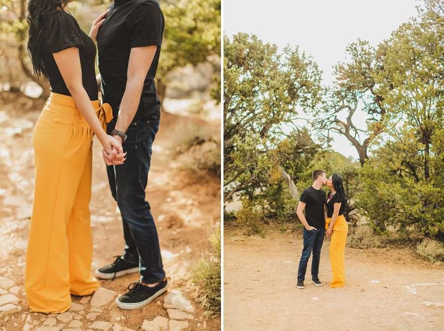 Cristina and Cody: Portrait Photography Northern Arizona holding hands