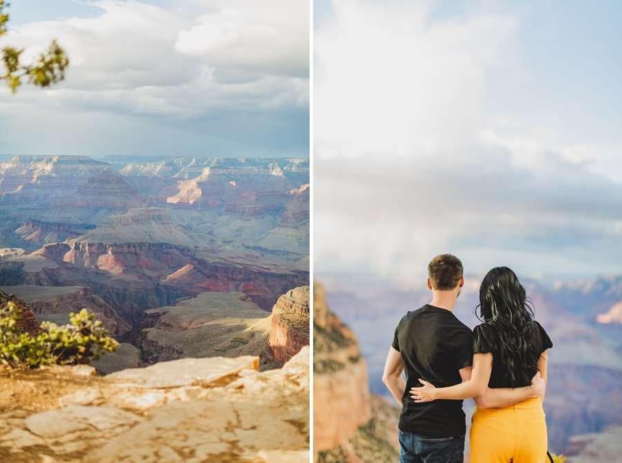Cristina and Cody: Portrait Photography Northern Arizona enjoying the view