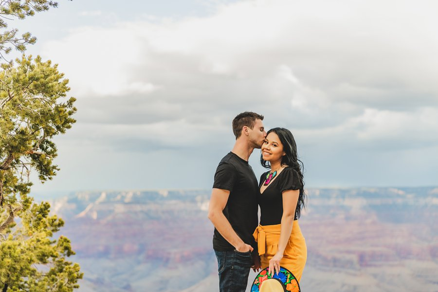 Cristina and Cody: Portrait Photography Northern Arizona the kisses and cuddles