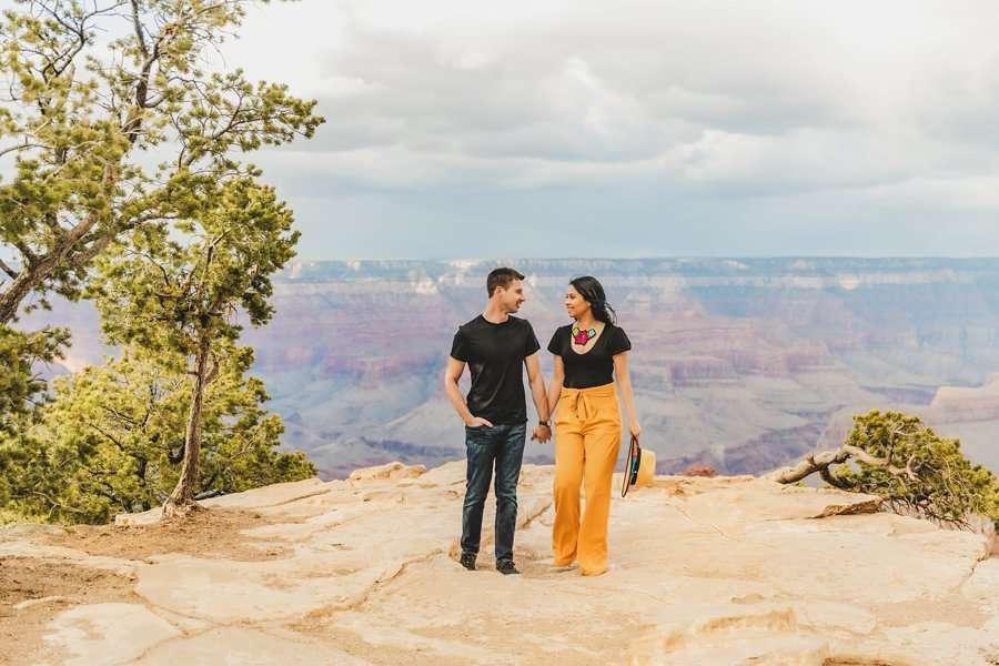 Cristina and Cody: Portrait Photography Northern Arizona sunset overlook