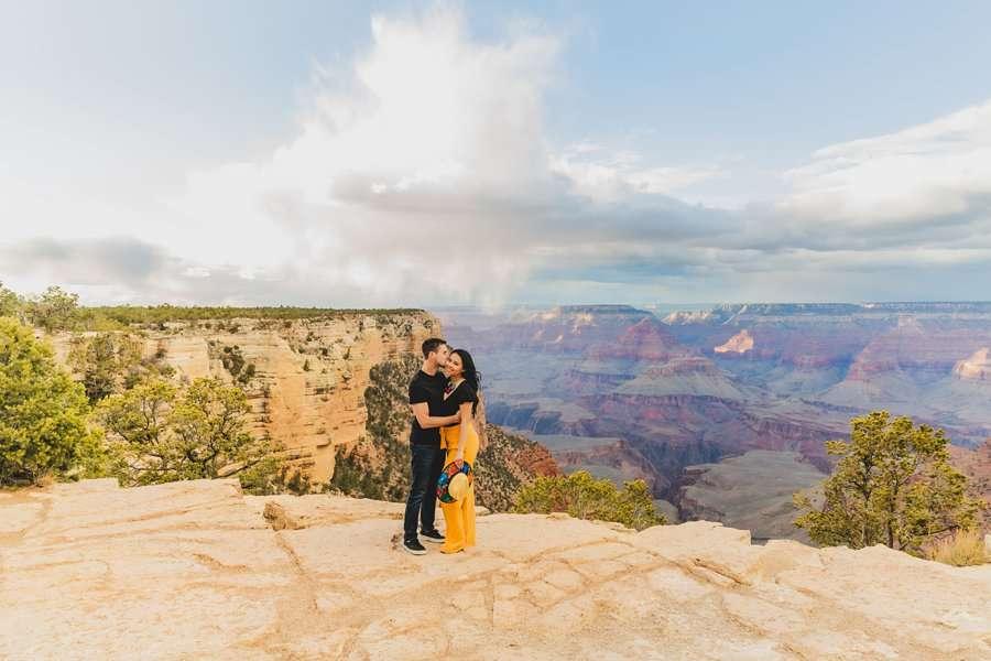 Cristina and Cody: Portrait Photography Northern Arizona overlook vista