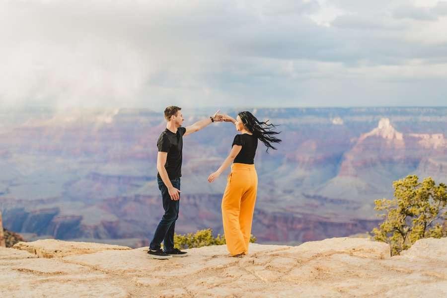 Cristina and Cody: Portrait Photography Northern Arizona dancing on the edge