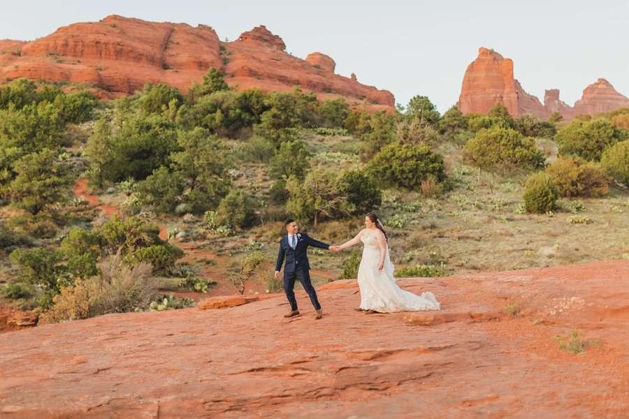 Bailey and Josh: Arizona Red Rock Wedding Photographers 1